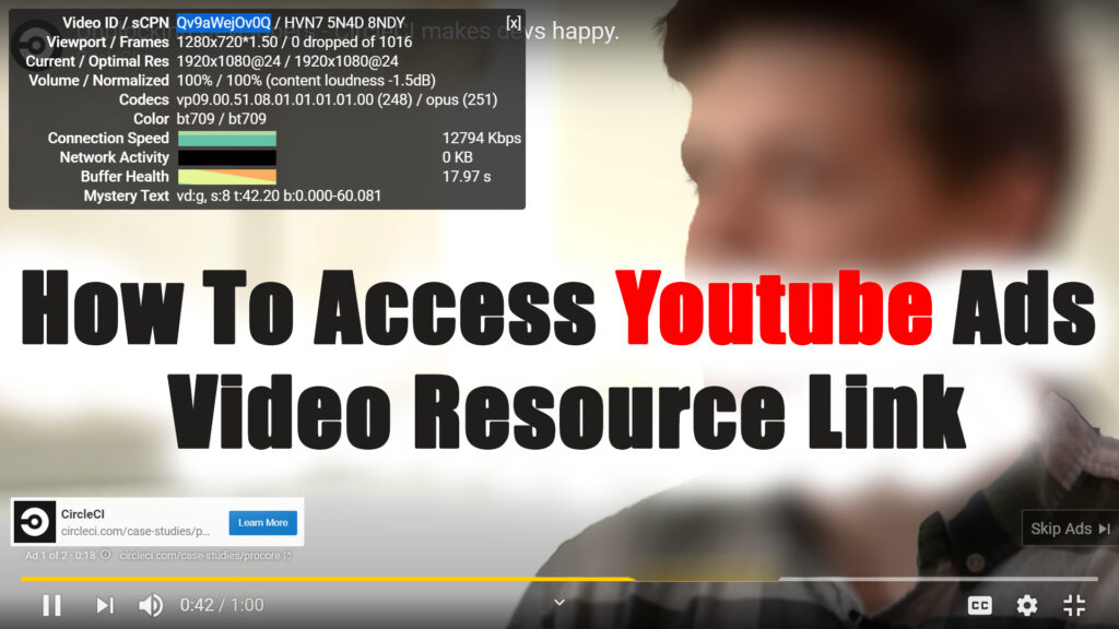 How To Access Youtube Ads Video Resource Link